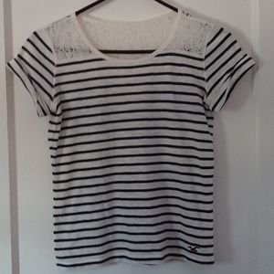 White and blue striped shirt from Hollister